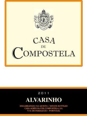 Alvarinho Casa de Compostela rótulo da frente